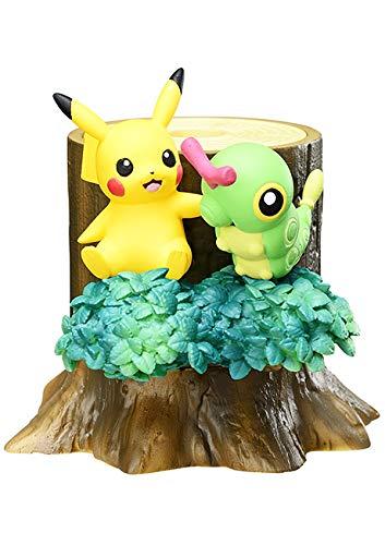 Unbekannt Re-Ment Mori no Pokemon Forest 2 Atsumete Kasanete Figure~1 Pikachu & Caterpie Caterpie Raupy Chenipan