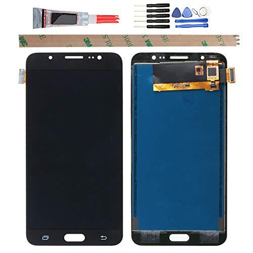 YHX-OU para Samsung Galaxy J7 2016 SM-J710Fdi Reparación y sustitución LCD Pantalla + digitalizador táctil con herramientas incluidas (negro)