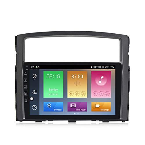 ADMLZQQ Android10.0 2 DIN Radio de Coche Autoradio Coche Estéreo con GPS Navegador para Mitsubishi Pajero 2006-2014 Soporte FM Controles del volante/Mirror-Link/1080P HD Video