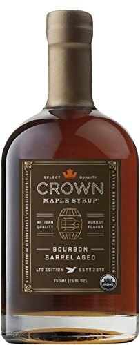 Crown Maple Bourbon Barrel Aged organic maple syrup 750ML (25 FL OZ)