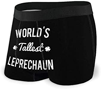 Yuanmeiju Mens Boxer Shorts Fitted Bragas Worlds Tallest Leprechaun Trunks Quick Dry Ropa Interior