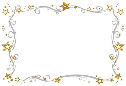 Nr. 12 Documentenpapier pergamma A4 met sterren voor laser- of inkjetprinters