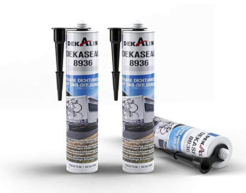 3x Dekalin Dichtmasse Dekaseal 8936 haftstarker Kleb- und Dichtstoff 310ml, schwarz, 3 x 310 ml