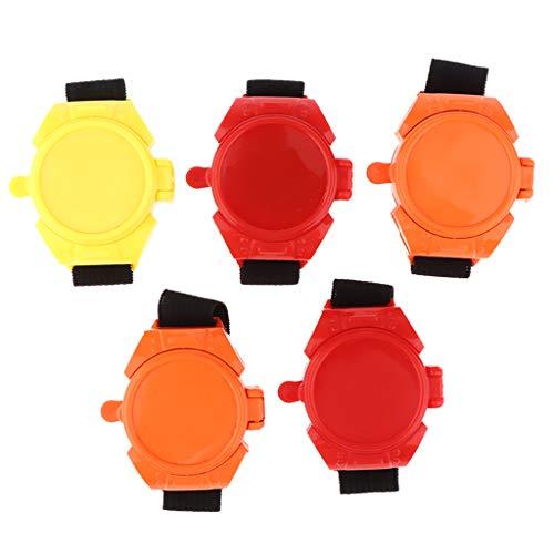 SM SunniMix 5-teilig Kinderspielzeug Uhr Launcher Fliegende Scheibe Schießen Uhr Armband Spielzeug Kleinkind Party Favors