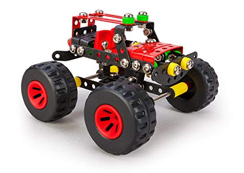 Alexander Toys Constructor Crusher Big Wheel Monster Truck Pure Metal Construction Model Building Kits Fully Compatible with Erector and All Other Metal Construction Sets and STEM Toys