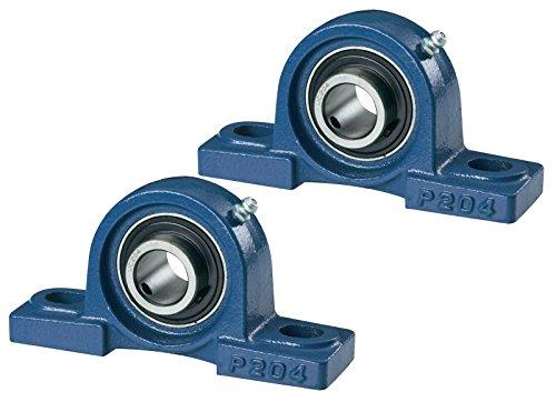 2 PCS - UCP 207 /NP35 207 35 mm Bohrung, Block Gussgehäuse selbstausrichtend,