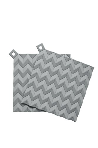 RIG-TIG by Stelton HOLD-ON, 2 Stck. -grau Topflappen, Silikon, grau, 20,5 x 20,5 x 0,8 cm