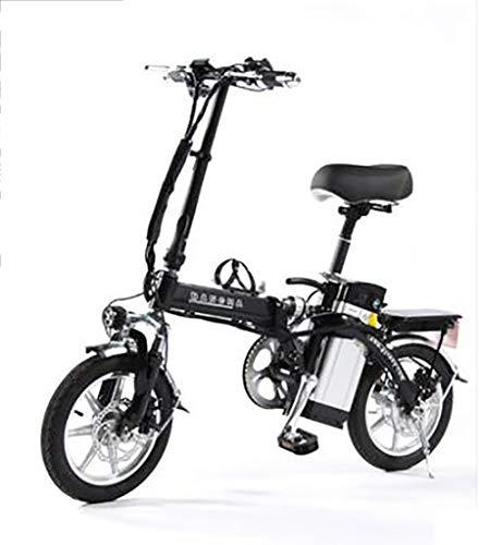 TX Mini Bicicletta elettrica Pieghevole Piccolo motorino Lega di Alluminio con contatore Intelligente, Telefono Ricaricabile,50-60 km, 4 Assorbimento degli Urti