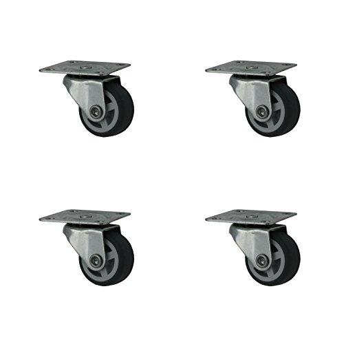 4 Stück 30 mm Möbelrollen Lenkrollen Transportrollen Rollen mit Softrad
