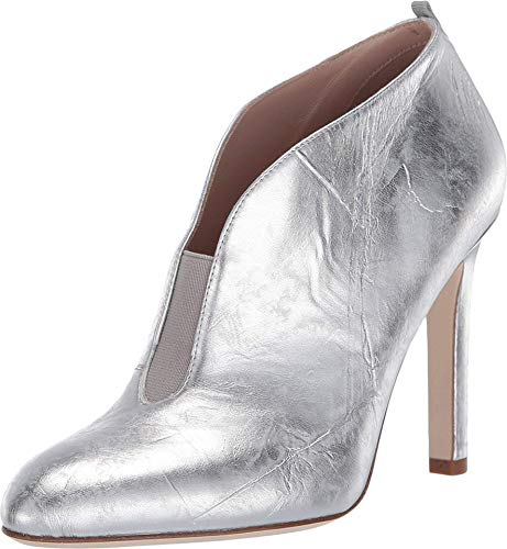 SJP by Sarah Jessica Parker Trois Silver Metallic Leather 40.5 (US Women's 10)