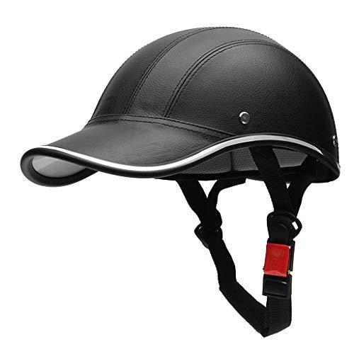 ybvyd Gorra de béisbol unisex, casco de media cara, casco de béisbol, casco de media cara, para bicicleta eléctrica, scooter, protección contra los rayos UV.