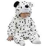 Doladola Unisex Baby Kleinkinder Strampler Overall mit Kapuze Cartoon Schlafanzüge (Schneeleopard, Größe 100 Alter 18-24 Monate)