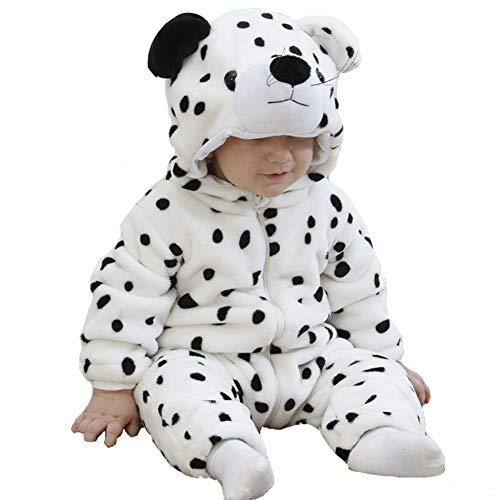 Doladola Unisex Baby Kleinkinder Strampler Overall mit Kapuze Cartoon Schlafanzüge (Schneeleopard, Größe 80 Alter 6-12 Monate)