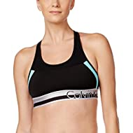 Calvin Klein Performance Women's Color Blocked Logo Elastic Bra