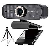 Spedal Webcam con trípode Full HD 1080P Webcam OBS Live Streaming Webcam PC con Micrófono Xbox Youtube Computer cámara para Skype Facebook y Twitch, PC Cámara Mac Compatible con Windows