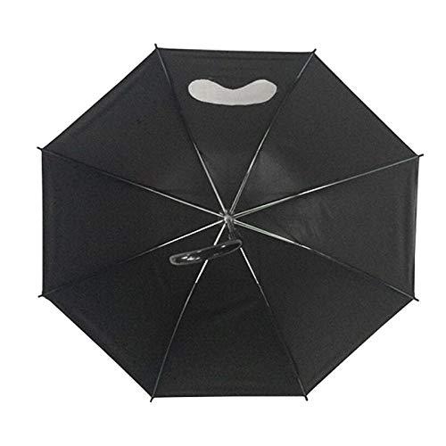 Powzz ornament Transparent glasses umbrella EVA frosted translucent rain umbrella arched princess environmental protection umbrella