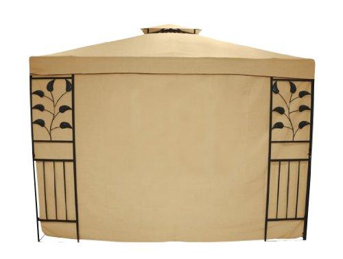 greemotion Seitenwand Livorno ohne Fenster im zweier Set beige, Seitenteile aus strapazierfähigem Polyester, wetterfeste Pavillonwand