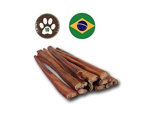 Top Dog Chews 12-inch Premium Odor-Free Angus Bully Sticks (10 Pack) Free Range, Grass Fed Angus Beef