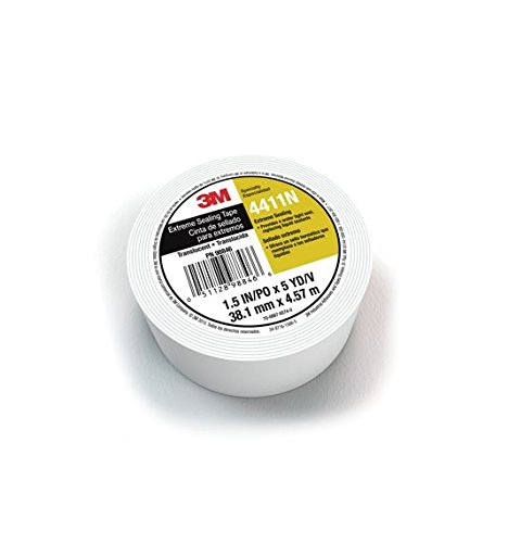 3M Extreme Sealing Tape 4411N, Translucent, 1 1/2 in x 5 yd, 40 mil