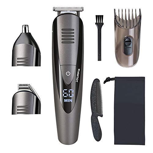 SOLIMPIA Bartschneider Barttrimmer Elektrischer Haarschneider für Männer Gesichtshaartrimmer mit Präzisionstrimmer und Nasentrimmer Wasserdicht USB Wiederaufladbar