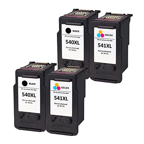 RICR Cartuchos de Tinta de Gran Capacidad para Canon PGI-540 CLI-541XL, Alto Rendimiento Compatible para MG3250 4200 3500 3500 3350 2155 3155 MX395 515 535 455 525 ts5151 2set