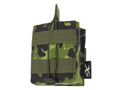 BE-X Open Mag Pouch/Magazintasche -Single- für HK 417, MOLLE - dänisch tarn