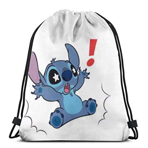 Etryrt Sacs à Cordon Sac à Dos Star Eyes Stitch Gym Backpack Shoulder Bags Sport Storage Bag for Man Women