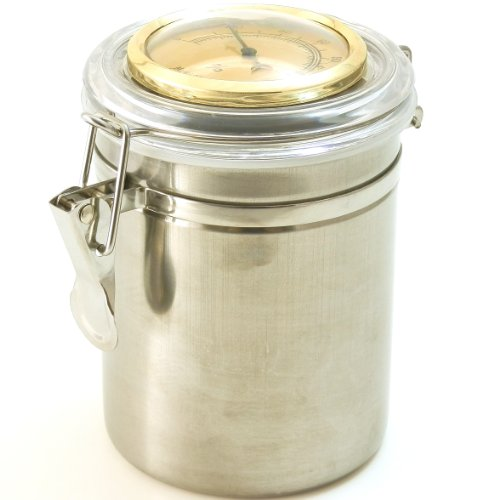 Mrs. Brog Pipe Tobacco Tin Can with Hygrometer & Humidifier
