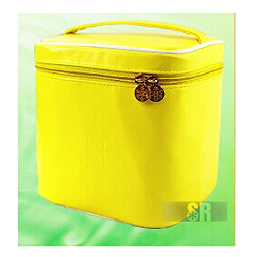 HQdeal Sacchetto cosmetico di trucco della cassa del sacchetto Organizzatore toilette make-up bag Borsa in pelle