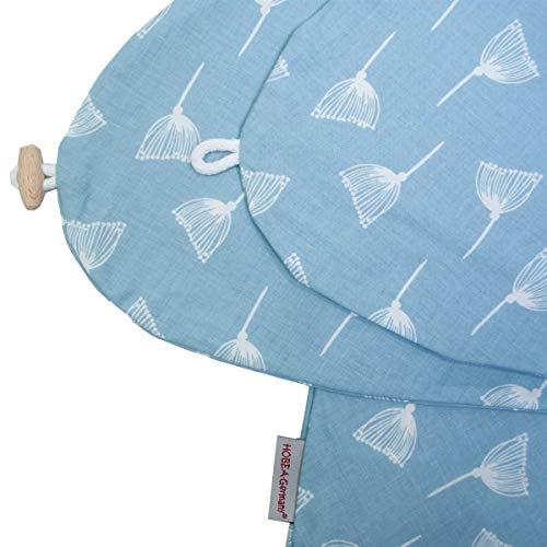 Stillkissenbezug für Stillkissen 190cm in verschiedenen Farben und Designs von HOBEA-Germany (Pusteblume hellblau)