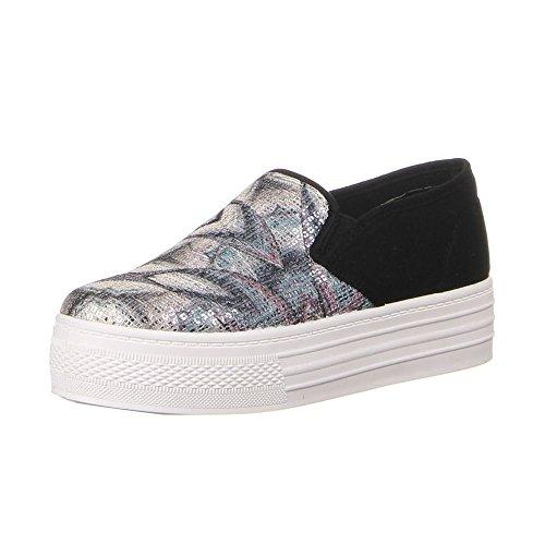 Ital-Design Damen Schuhe, 0015-69-A, Halbschuhe, Moderne Freizeitschuhe, Textil und Synthetik, Schwarz Multi, Gr 36