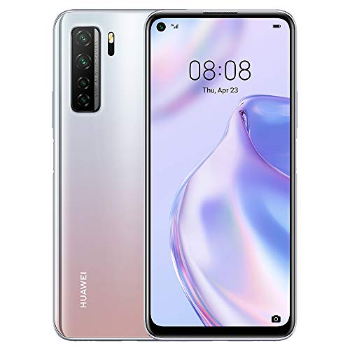 HUAWEI P40 Lite 5G - 128 GB 6.5 Smartphone with Punch FullView Display, 64 MP AI Quad Camera, 4000 mAh Large Battery, 40W SuperCharge, 6 GB RAM, SIM-Free Android Mobile Phone, Dual SIM, Silver