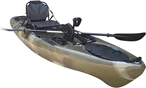 BKC PK11 Angler 10.5-Foot Sit On Top Solo Fishing Kayak