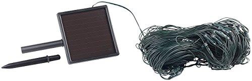 Lunartec Solar LED Netz: Solar-LED-Lichternetz, 198 LEDs, kaltweiß, 3 x 3 m, IP44 (Solar Lichternetz außen)