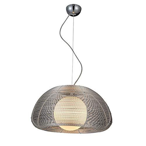 Moderne Lampes suspendues Fil d'aluminium lustre dans Abat-jour boule de verre, Créatif Lumière suspendue avec fil pour intérieur extérieur,Picture