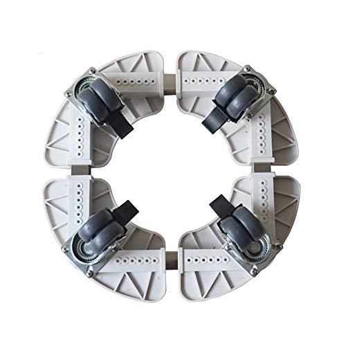 MTX Ltd Base Support Pot de Fleurs Base Support Rond Roue de Verrouillage Taille Réglable 25Cm-50Cm Très Durable