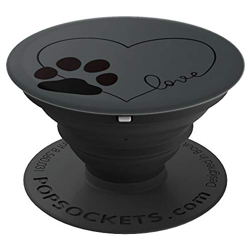 Love Dogs Cute Design PopSockets Grip and Stand for Phones and Tablets