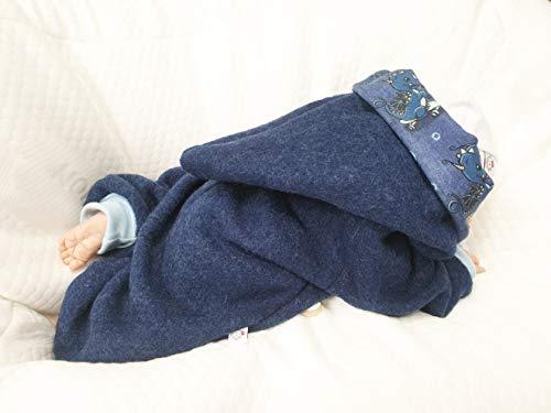 Atelier MiaMia - Walkoverall Baby Kind von 50-104 Designer Baby Overall Limitiert !! Blau (98) - 4