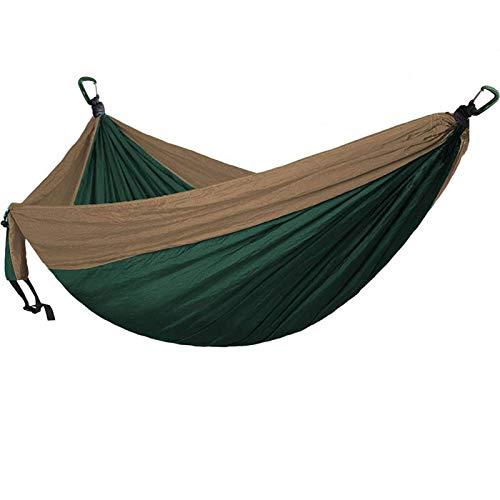 TNSYGSB Camping Colgante Hamaca 2-3 Persona Color Sólido Casual Anti-Rollover Ligero Accesorios Accesorios para Camping para Niños Playa de Senderismo de Viaje Interior, Azul Oscuro Hamaca Playa
