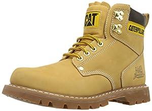 Caterpillar Men's Second Shift Work Boot, Honey, 8 W US