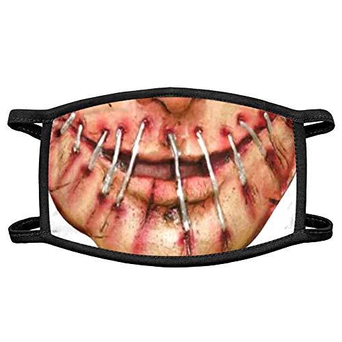 (H) おもしろマスク 噛みつき魔 面白い 変顔マスク 洗える 布 大人用 変装 ハロウィン 仮装 被り物 コスプレ 衣装 パーティーグッズ おもしろ雑貨