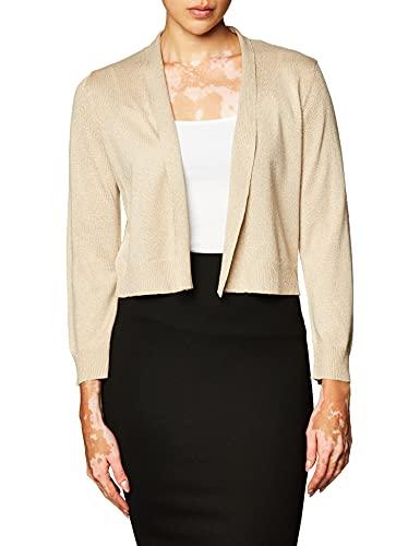 Calvin Klein Women's Shrug, Gold Lurex Knit, X-Large