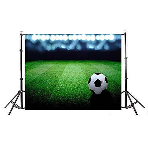 Studio Fotografico Sfondo Fotografico Festa di Compleanno Album Personale Coppa del Mondo Calcio Manifesto per Bambini Prodotto # 373 (Color : Multi-Colored, Size : 210 * 150CM)