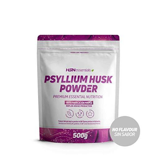 Psyllium Husk de HSN | Cáscara de Plántago | Fuente de Fibra Soluble, Combate el Estreñimiento, Mejora el Tránsito Intestinal | Vegano, Sin Gluten, Sin Lactosa, En Polvo, Sabor Natural, 500 gr
