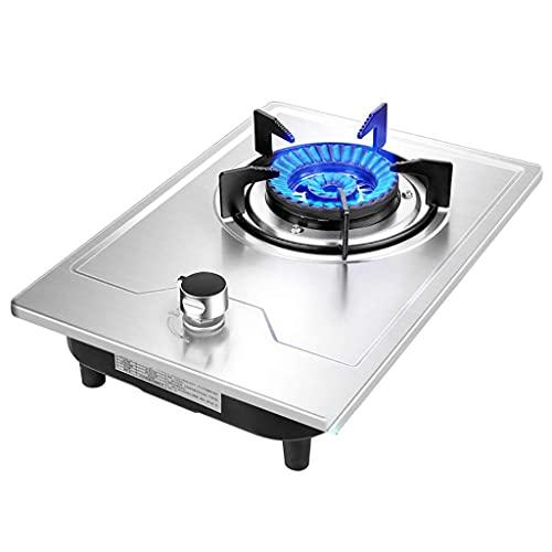 Gaskookplaat Cooker Desktop/Inbouw Enkele Gasfornuis, 4.5KW vuurkracht, Thermokoppel Flameout Protection, Gepulseerde Elektronische Ontsteking, Voor Keuken Vloeibaar Aardgas/Aardgasfornuis [Energie Klasse A]