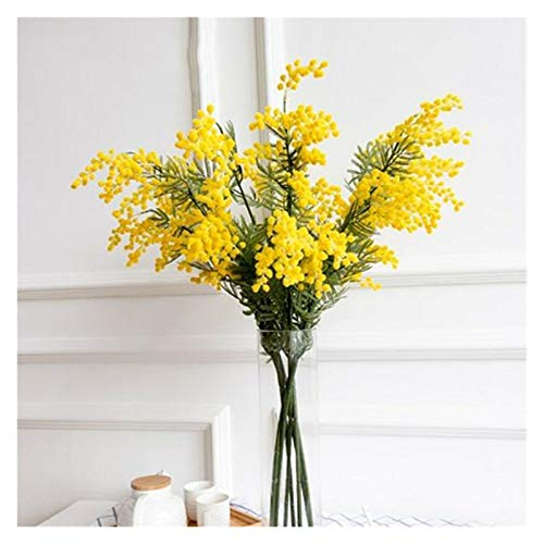 YSQSPWS Artificial flowers 50pcs 57cm Fake Yellow Flower Branch Artificial Plant Decorate the living room (Size : 24pcs)