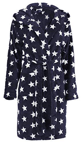 Albornoz para mujer con estrellas de Brandsseller en los tamaños: S/M - L/XL - en los colores: Antracita y blanco azul marino y blanco S-M