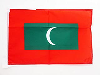 MALDIVES 扁平 18 英寸 x 12 英寸电线 - 马尔代夫小扁平 30 x 45cm - 横幅 18x12 英寸 - AZ FLAG