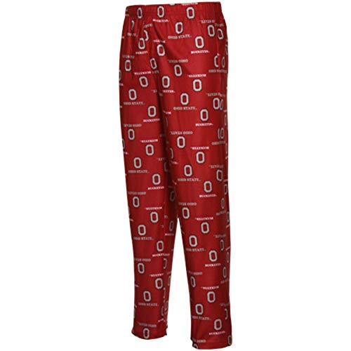 Outerstuff Ohio State Buckeyes Youth All Over Pajama Pants (X-Large) Red