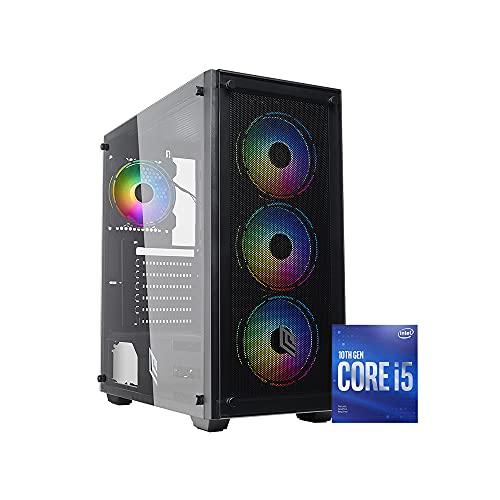 PJ RIG ERIS Pc gaming i5 4.30Ghz,Ram 16 Gb ddr4 3000 mhz, Rtx 3060 12GB,SSD 1000Gb M.2 Nvme, PSU 600 watt 80 plus, Windows 10 pro, Pc fisso gaming assemblato